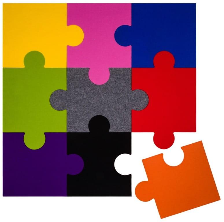 Zewnętrzny CIEMNOSZARY puzzel korkowy P1 8x300x470mm - Puzzle ...